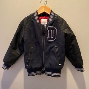 Diesel boys faux leather bomber jacket